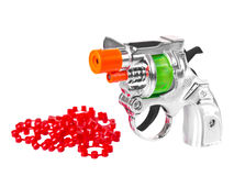 Mini toy gun with powder Royalty Free Stock Image