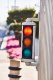 Mini traffic light. Duplicate traffic lights in Dubai. stock photos