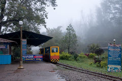 Mini Train bei Madikeri, Coorg Stockbild