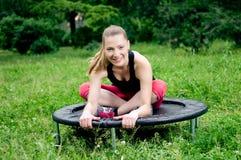 Mini trampoline Zdjęcia Royalty Free