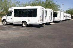 Mini transporte de omnibus lisiado de la furgoneta Fotos de archivo