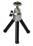 Mini tripod isolated Stock Photography