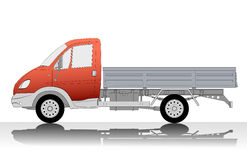 Mini truck with box body Stock Photo