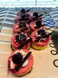 Mini truskawka tort wyśmienicie zdjęcia royalty free