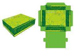 Mini Twarzowej tkanki Papierowy pudełko i kostka do gry cięcie Zdjęcie Stock