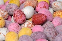 Mini uova di Pasqua del cioccolato Fotografia Stock Libera da Diritti