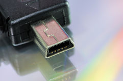 Mini-USB connector Stock Photos