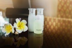 Mini ustalonego szamponu i kąpielowego mydła amd ciekły conditioner gel z f Zdjęcia Stock