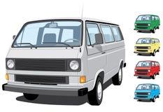 Mini van. Vector mini van, passengers and cargo without gradients Stock Images