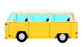 Mini van bus. Popular camper from sixties for family fun Stock Image
