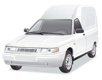 Mini van delivery car Royalty Free Stock Photos