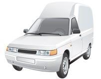 Mini van delivery car Stock Image