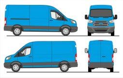 Ford Transit Delivery Van 2015 royalty free illustration