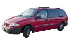 Mini Van rosso Immagini Stock