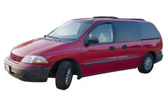 Mini Van vermelho Imagens de Stock