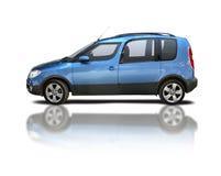 Mini van. On white, Skoda Roomster Royalty Free Stock Images