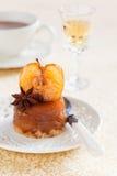 Mini vanilla apple tarte tatin Royalty Free Stock Photos