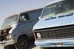 Mini Vans In Junkyard Stock Photography