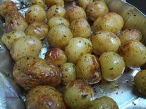 Mini- varma lagade mat stekpotatisar Royaltyfri Fotografi
