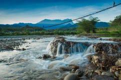 Mini- vattenfall Arkivfoto