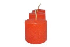 Mini velas vermelhas Foto de Stock