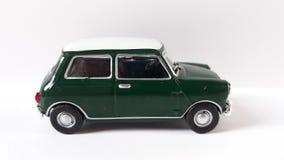Mini verde del coche del tonelero imágenes de archivo libres de regalías