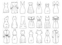 Mini vestidos stock de ilustración