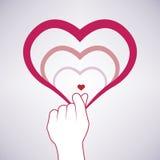 Mini vettore di simbolo del cuore, simbolico della Corea Royalty Illustrazione gratis