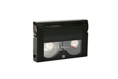 Mini video cassette. Cassette for recording video on a white background Stock Images