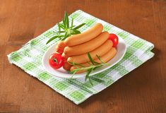 Mini Vienna sausages Stock Photography