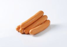Mini Vienna sausages Royalty Free Stock Photography