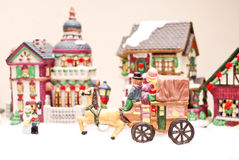 Mini ville de Noël Photos stock