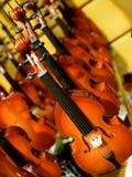 Mini Violins Arkivfoton