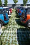 Mini voitures à vendre Photographie stock libre de droits