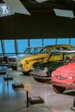 Mini voitures légendaires du 20ème siècle Lada, Citroen, mini et Fiat images libres de droits