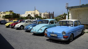 Mini volkswagen cars colection, Malta Stock Photo