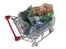 mini wózka na zakupy Obraz Royalty Free