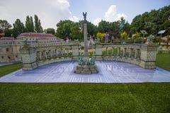 Mini Węgry, kwadrat bohaterzy, Budapest Fotografia Royalty Free