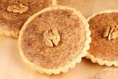 Mini walnut tarts Stock Photos