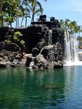 Mini Waterfall in Hawaii royalty free stock photos
