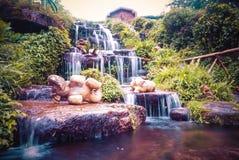 Mini Waterfall nel parco nazionale di Doi Inthanon, Chiang Mai thailand fotografie stock libere da diritti
