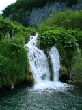 Mini Waterfall (Plitvice Seen) Stockbilder