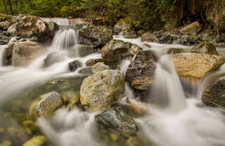 Mini Waterfalls Over Rocks Royalty Free Stock Images