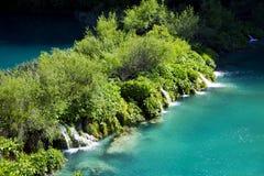 Mini waterfalls on Plitvice laiks Royalty Free Stock Photos