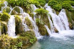 Mini waterfalls on Plitvice laiks Stock Images