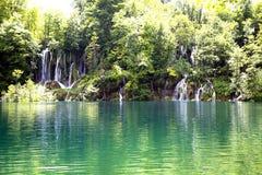 Mini waterfalls on Plitvice laiks Royalty Free Stock Photo