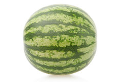 Mini watermelon on white, clipping path Stock Photography