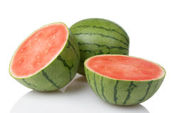 Mini Watermelons With One Cut In Half Royalty Free Stock Photography