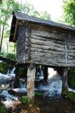 Mini Watermills on Pliva Lake Royalty Free Stock Images
