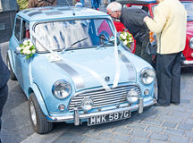 Mini wedding car Stock Photos